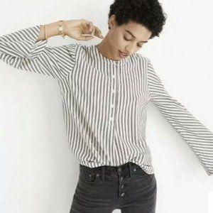 Madewell M Stripe Flare Sleeve Shirt Henley